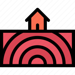 earthquake, insurance, nature, weather icon