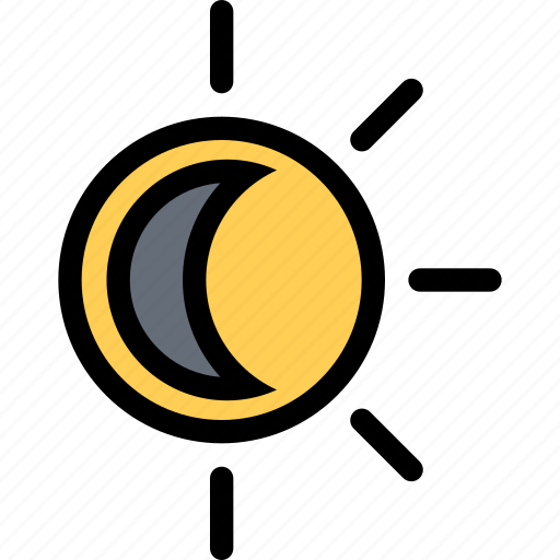 eclipse, moon, nature, sun, weather icon