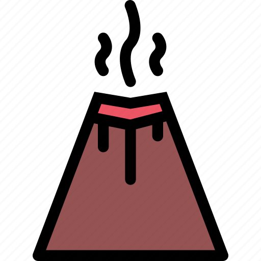 eruption, insurance, nature, weather icon