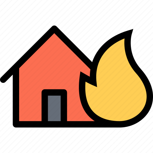 fire, home, house, ignition, insurance icon
