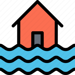 flood, insurance, nature, water, weather icon