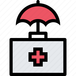 insurance, medicine, protection, suitcase, umbrella icon