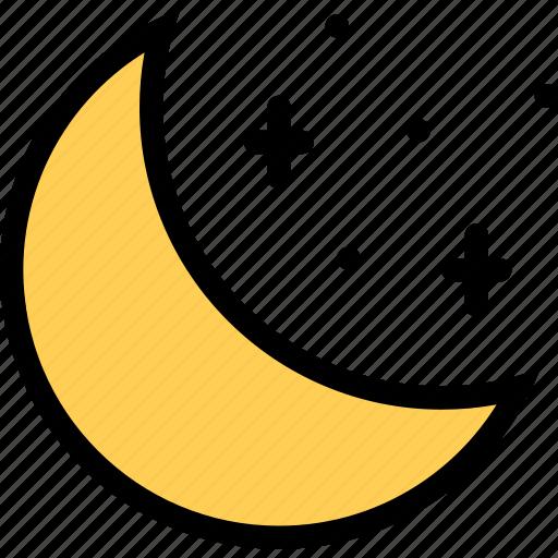 moon, nature, night, weather icon