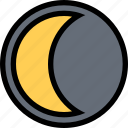 moon, nature, night, weather icon