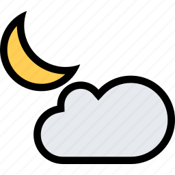 cloud, moon, nature, night, weather icon