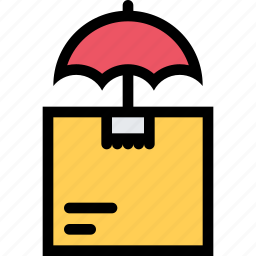 insurance, mail, package, protection icon