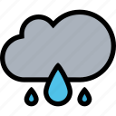cloud, nature, rain, weather icon