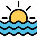 nature, sea, water, weather icon