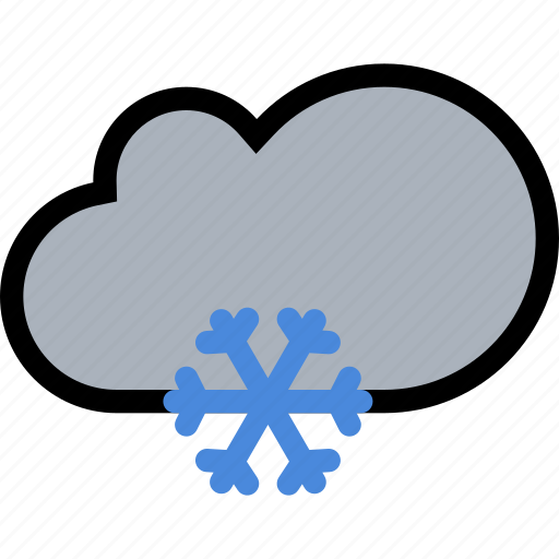 cloud, nature, snow, weather icon