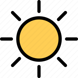 nature, sun, sunny, weather icon