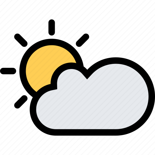 cloud, nature, sun, weather icon