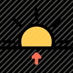 nature, sun, sunrise, weather icon
