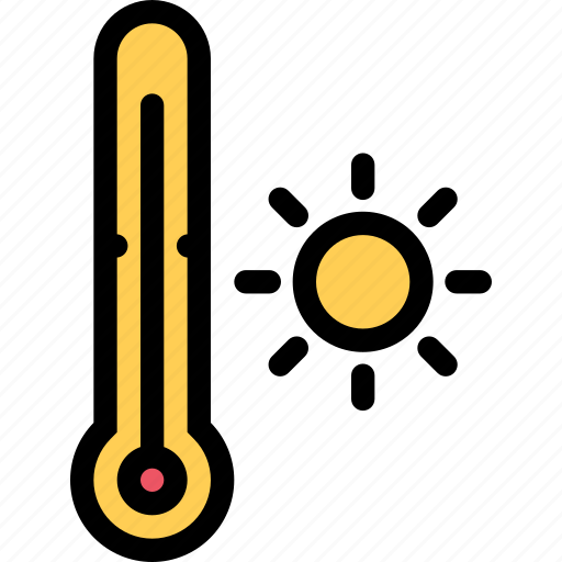 nature, temperature, thermometer, weather icon