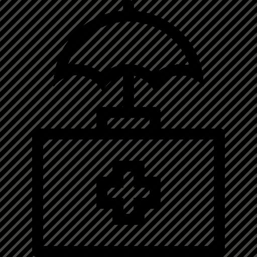 doctor, insurance, medicine, suitcase icon
