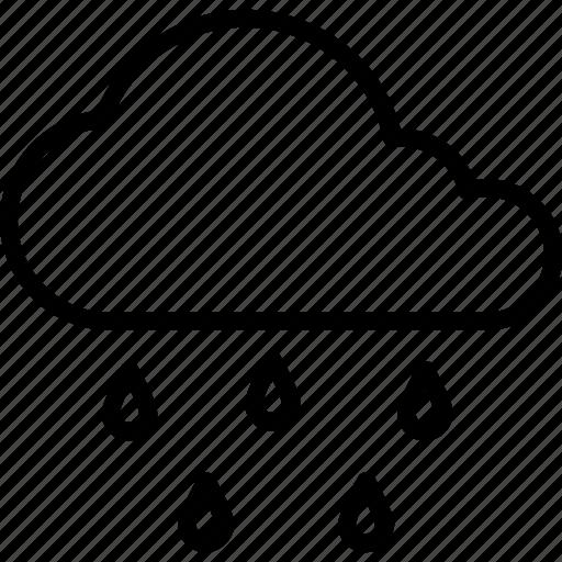 cloud raining, puffy clouds, raining, rainy climate, weather icon