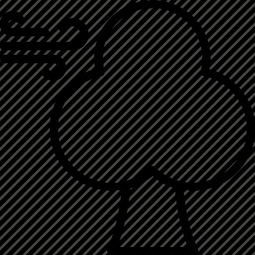 conifer windbreak, forest weather, forest wind, tree wind, weather theme icon