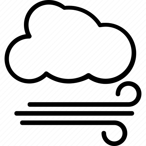 air element, cold weather, wind storm, winds, windy weather icon