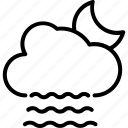 raincloud, raining, heavy rain, weather, night raining icon