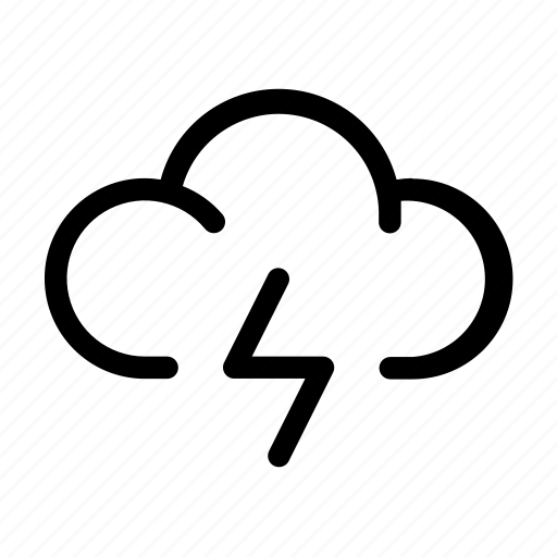 cloud, forecast, storm, weather icon icon