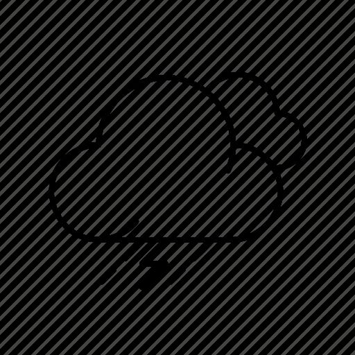 cloud, moon, rain, snow, storm, weather, winter icon