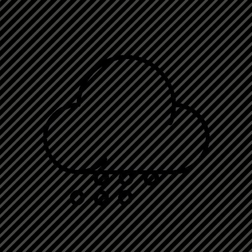 cloud, moon, night, rain, snow, weather, winter icon