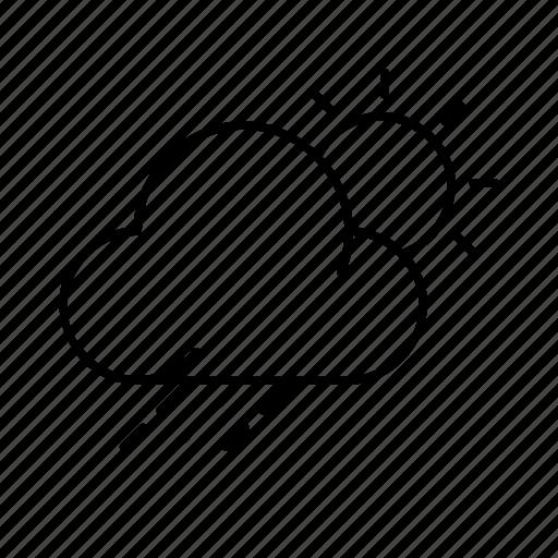 cloud, day, moon, night, rain, sun, weather icon