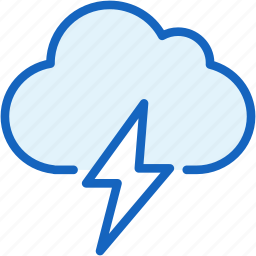cloud, lighting, thunder, weather icon