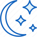 moon, night, starts, weather icon
