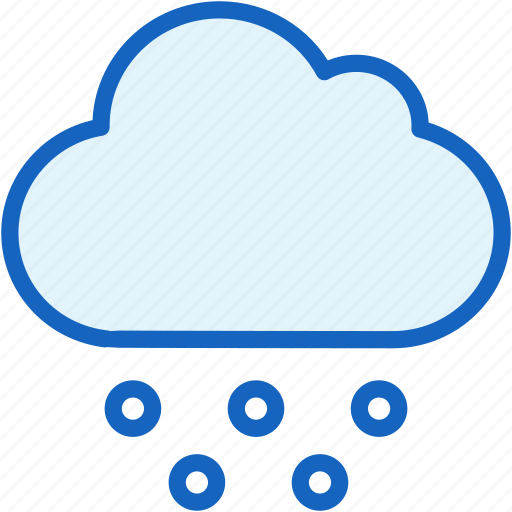 cloud, snow, weather icon