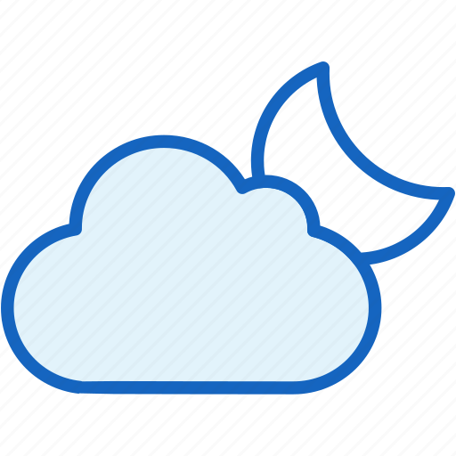 cloud, moon, weather icon