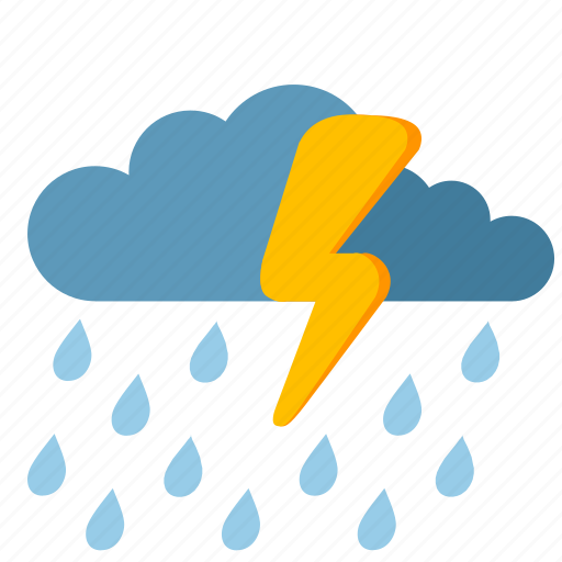 clouds, condition, rain, storm, weather icon