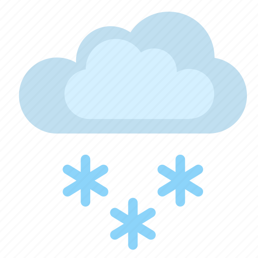 clouds, condition, flakes, snow, weather, winter icon