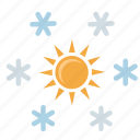 condition, flakes, snow, sun, winter