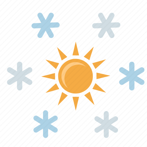condition, flakes, snow, sun, winter icon