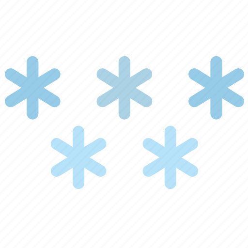 flakes, snow, weather, winter icon