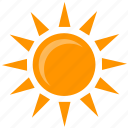 hot, shine, summer, sun, weather icon