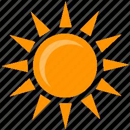 hot, shine, summer, sun, weather icon