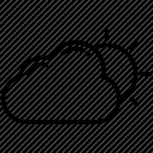 Cloud, clouds, sun, sunny, weather, weather3, wind icon