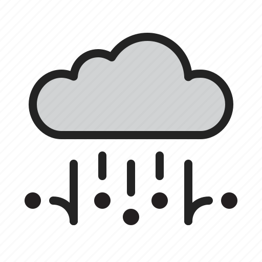 cloud, hail, rain, storm, weather icon