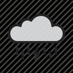 cloud, lightning, rain, storm, weather icon