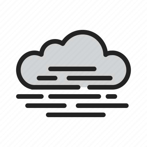 cloud, clouded, fog, partially, weather icon