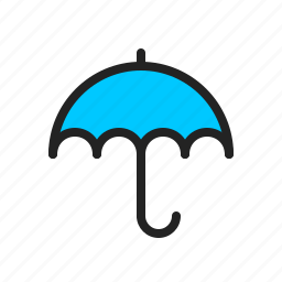 rain, storm, umbrella, weather icon