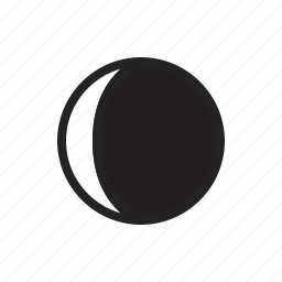crescent, moon, phase, phases, waning, weather icon