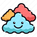 nature, summer, cloudy, weather, good, day, night icon