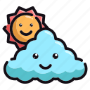 nature, cloudy, weather, good, afternoon, day, night icon