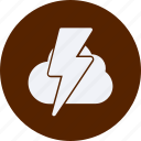 clouds, forecast, lightning, vacation, weather icon