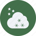 clouds, forecast, stars, vacation, weather icon