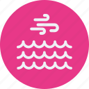clouds, forecast, vacation, waves, weather icon