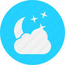 cloud, clouds, forecast, star, vacation, weather icon