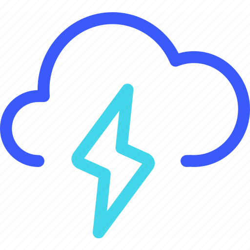 25px, cloud, iconspace, thunderbolt icon